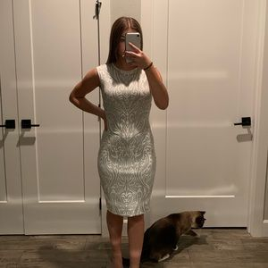 White and silver summer dress